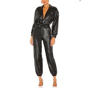 Brand new Lovers+Friends faux leather jumpsuit